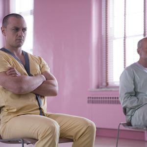 Vidro : Foto Bruce Willis, James McAvoy