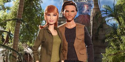 Jurassic World - Reino Ameaçado: Chris Pratt e Bryce Dallas Howard viram bonecas Barbie