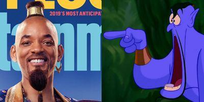 Aladdin: Arte conceitual mostra Gênio azul de Will Smith