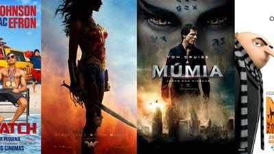 Estreias de junho nos cinemas Mulher-Maravilha e A Múmia