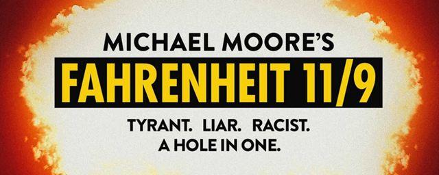 Fahrenheit 11/9: A Casa Branca está em chamas no cartaz do filme de Michael Moore