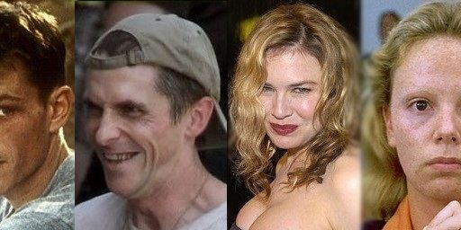 """20 atores """"transformados"""" em seus filmes"""