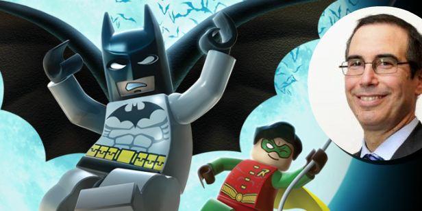 Secretário da fazenda de Donald Trump é acusado de promover ilegalmente Lego Batman - O Filme
