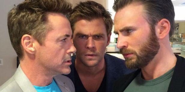 """Robert Downey Jr. está tentando começar uma """"guerra civil"""" entre Chris Evans e Chris Hemsworth"""