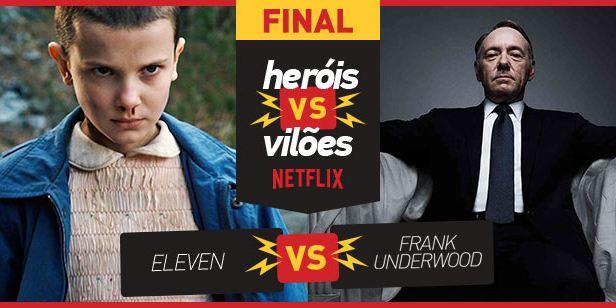 VideoFight Heróis vs Vilões: Eleven e Frank Underwood disputam a grande final