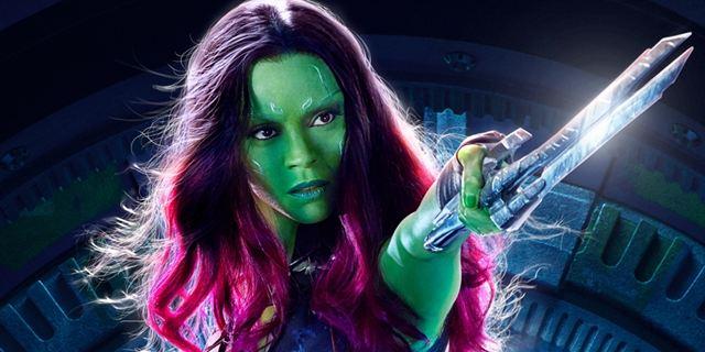 Zoe Saldana revela como é tirar a maquiagem de Gamora
