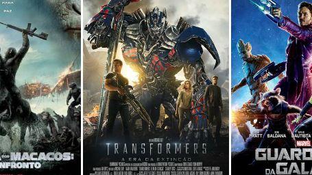 Estreias de julho nos cinemas Transformers 4 e Guardiões da Galáxia