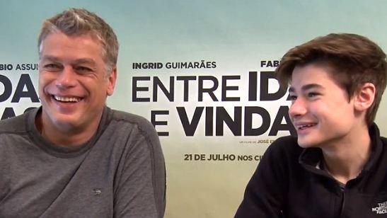 Fábio Assunção e o filho João Assunção falam sobre o trabalho juntos em Entre Idas e Vindas (Exclusivo)