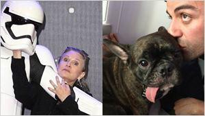 Oscar Isaac divulga foto de Carrie Fisher e Mark Hamill no set do novo Star Wars