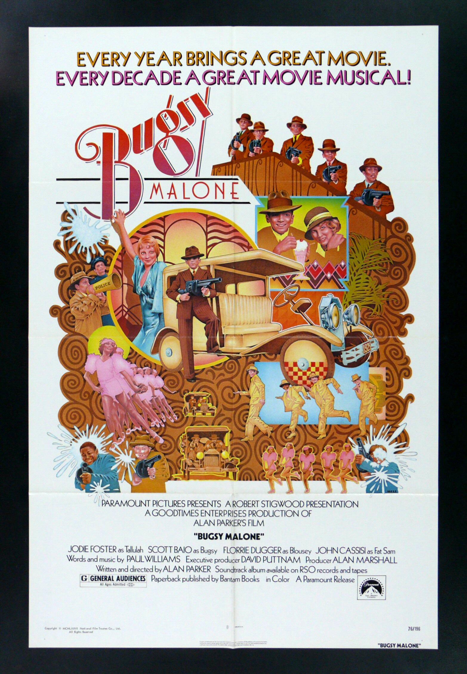 Bugsy Malone Poster Bugsy Malone Quando as