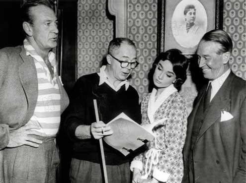 Um Amor na Tarde : Foto Audrey Hepburn, Billy Wilder, Gary Cooper, Maurice Chevalier
