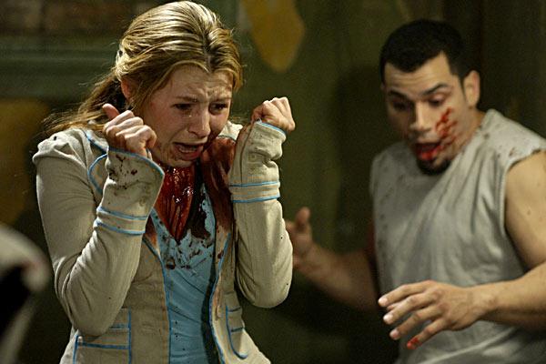 Jogos Mortais 2 : Foto Beverley Mitchell, Darren Lynn Bousman, Franky G.