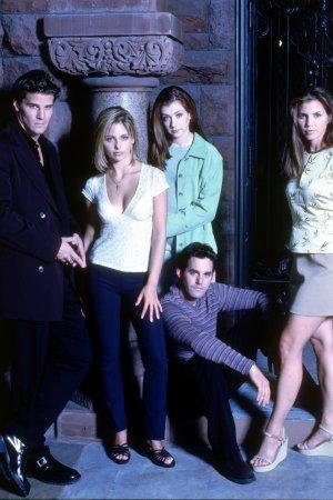 Buffy, a Caça-Vampiros : Foto Alyson Hannigan, Charisma Carpenter, David Boreanaz, Nicholas Brendon, Sarah Michelle Gellar