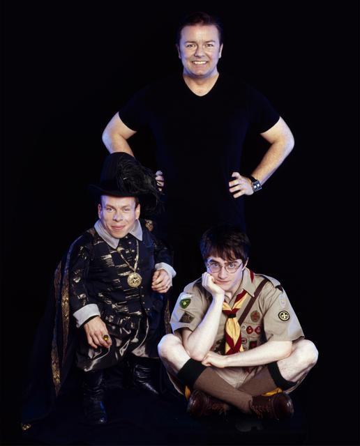 Extras : Foto Daniel Radcliffe, Ricky Gervais, Warwick Davis