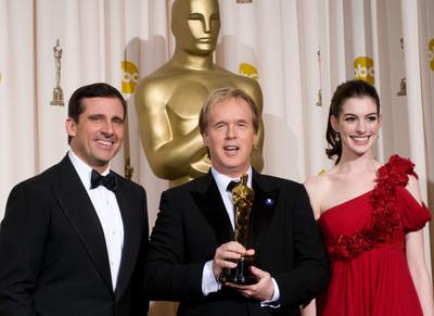Foto Anne Hathaway, Brad Bird, Steve Carell