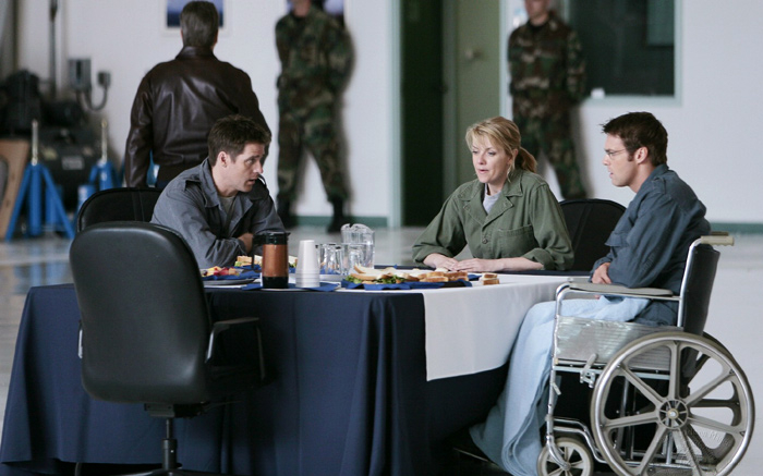 Stargate SG-1 : Foto Amanda Tapping, Ben Browder, Michael Shanks (I)