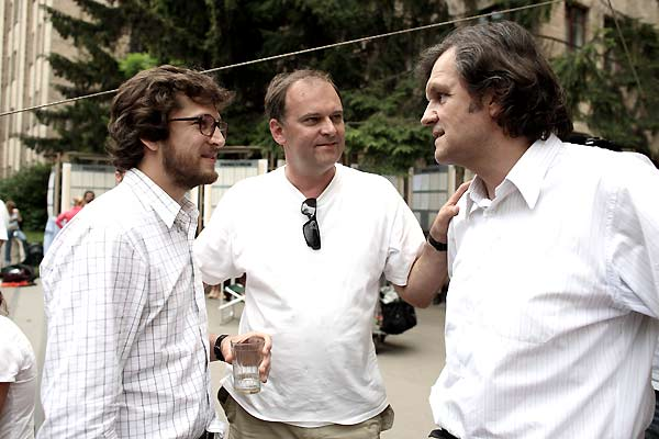 Foto Christian Carion, Emir Kusturica, Guillaume Canet