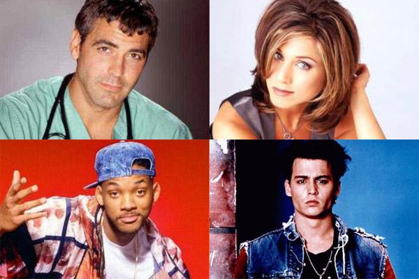 Foto George Clooney, Jennifer Aniston, Johnny Depp, Will Smith