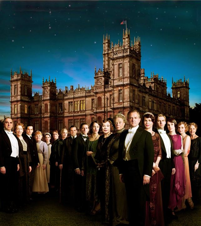 Foto Elizabeth McGovern, Hugh Bonneville, Jessica Brown Findlay, Jim Carter, Joanne Froggatt