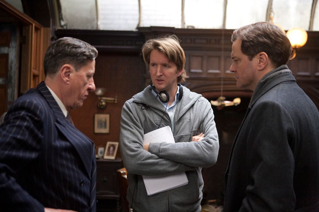 O Discurso do Rei : Foto Colin Firth, Geoffrey Rush, Tom Hooper