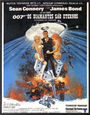 007 - Os Diamantes São Eternos : poster