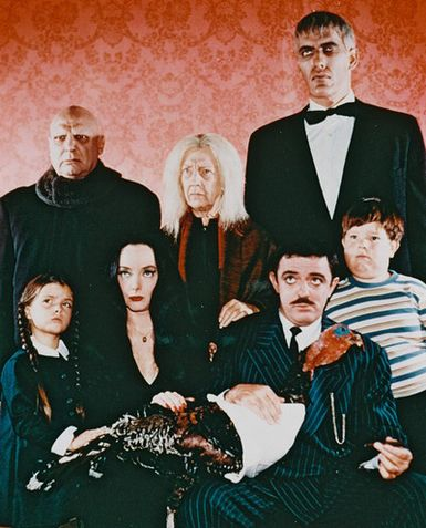 The Addams Family : Foto Carolyn Jones, Jackie Coogan, John Astin, Ken Weatherwax, Lisa Loring