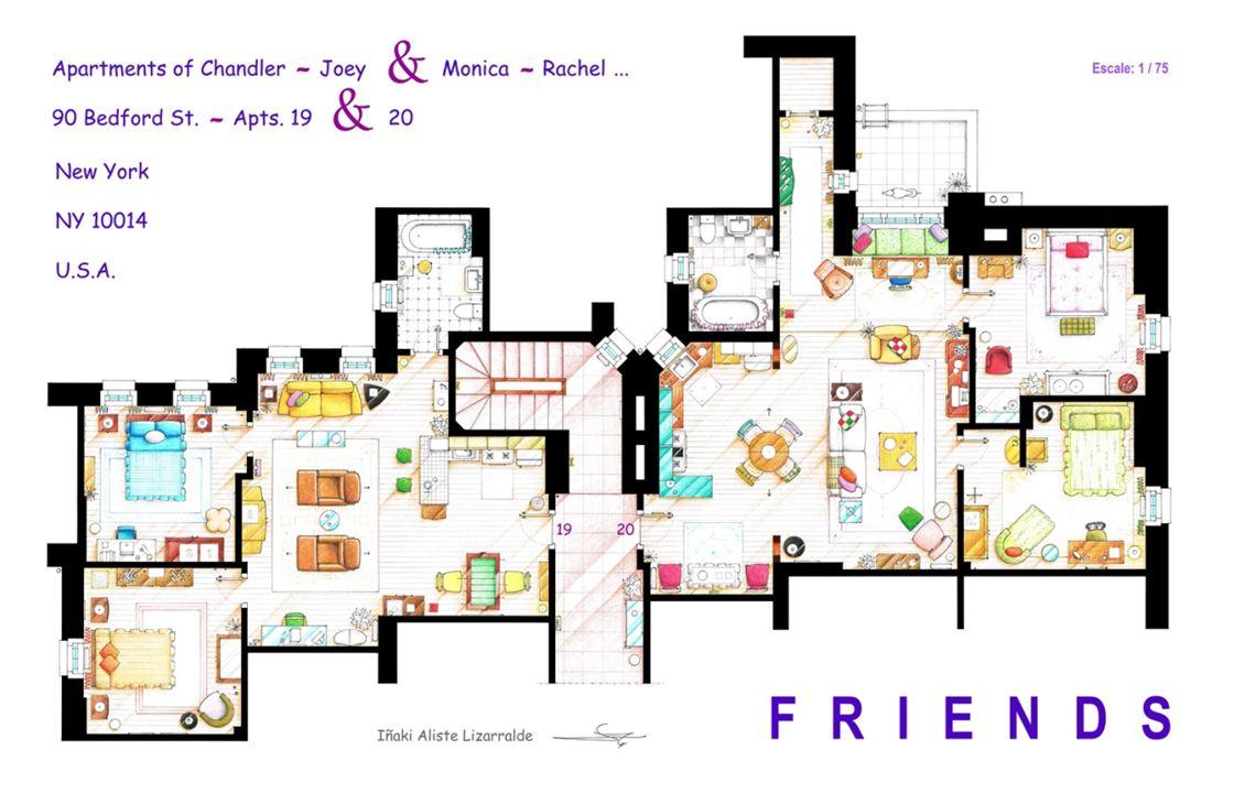 As plantas das casas dos seriados de tv americanos for The nanny house layout