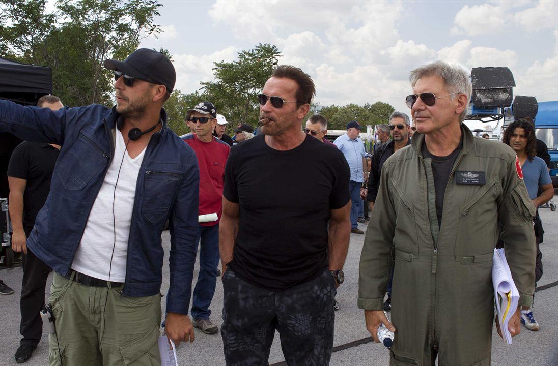 Os Mercenários 3 : Foto Arnold Schwarzenegger, Harrison Ford, Patrick Hughes (II)