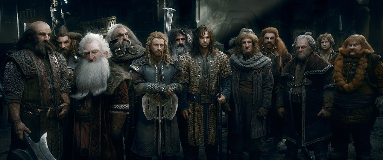 O Hobbit: A Batalha dos Cinco Exércitos : Foto Aidan Turner, Billy Connolly, Dean O'Gorman, Graham McTavish, Jed Brophy