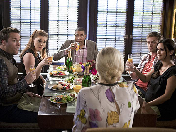 Foto Cress Williams, Kaitlyn Black, Rachel Bilson, Scott Porter, Wilson Bethel