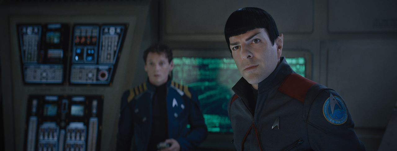 Star Trek: Sem Fronteiras : Foto Anton Yelchin, Zachary Quinto