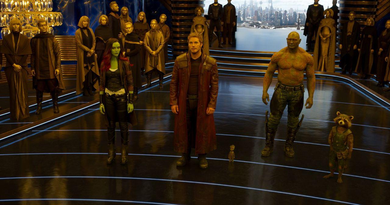 Guardiões da Galáxia Vol. 2 : Foto Chris Pratt, Dave Bautista, Zoe Saldana