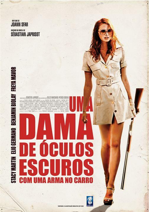 Uma Dama de Óculos Escuros com uma Arma no Carro : Poster