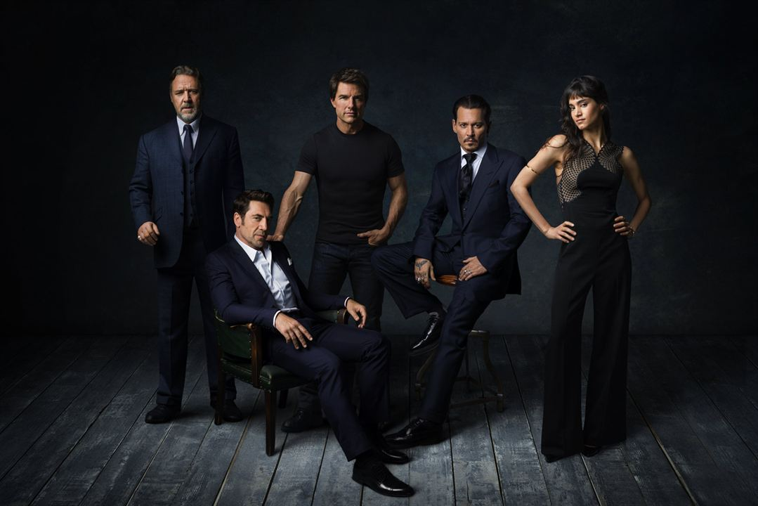 A Noiva de Frankenstein : Vignette (magazine) Javier Bardem, Johnny Depp, Russell Crowe, Sofia Boutella, Tom Cruise