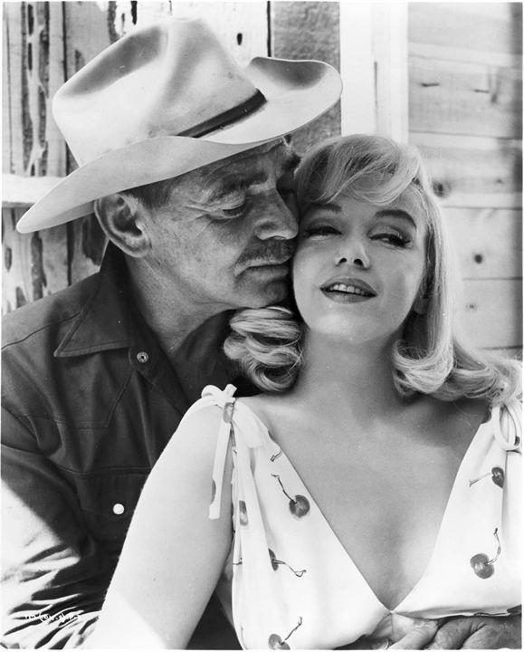 Os Desajustados : Foto Clark Gable, Marilyn Monroe