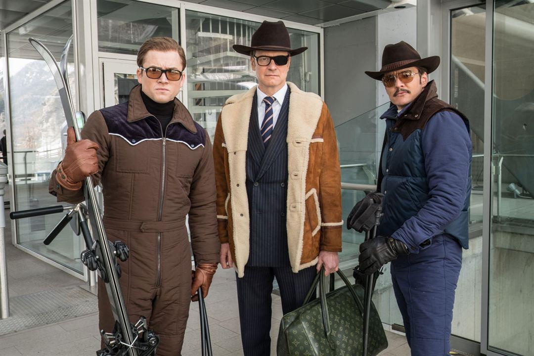 Kingsman: O Círculo Dourado : Foto Colin Firth, Pedro Pascal, Taron Egerton