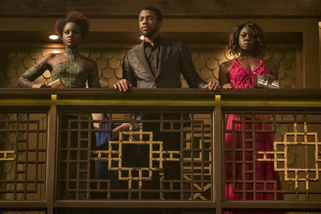 Pantera Negra : Foto Chadwick Boseman, Danai Gurira, Lupita Nyong'o