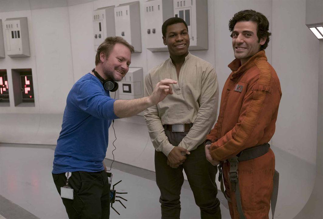 Star Wars - Os Últimos Jedi : Foto John Boyega, Oscar Isaac, Rian Johnson
