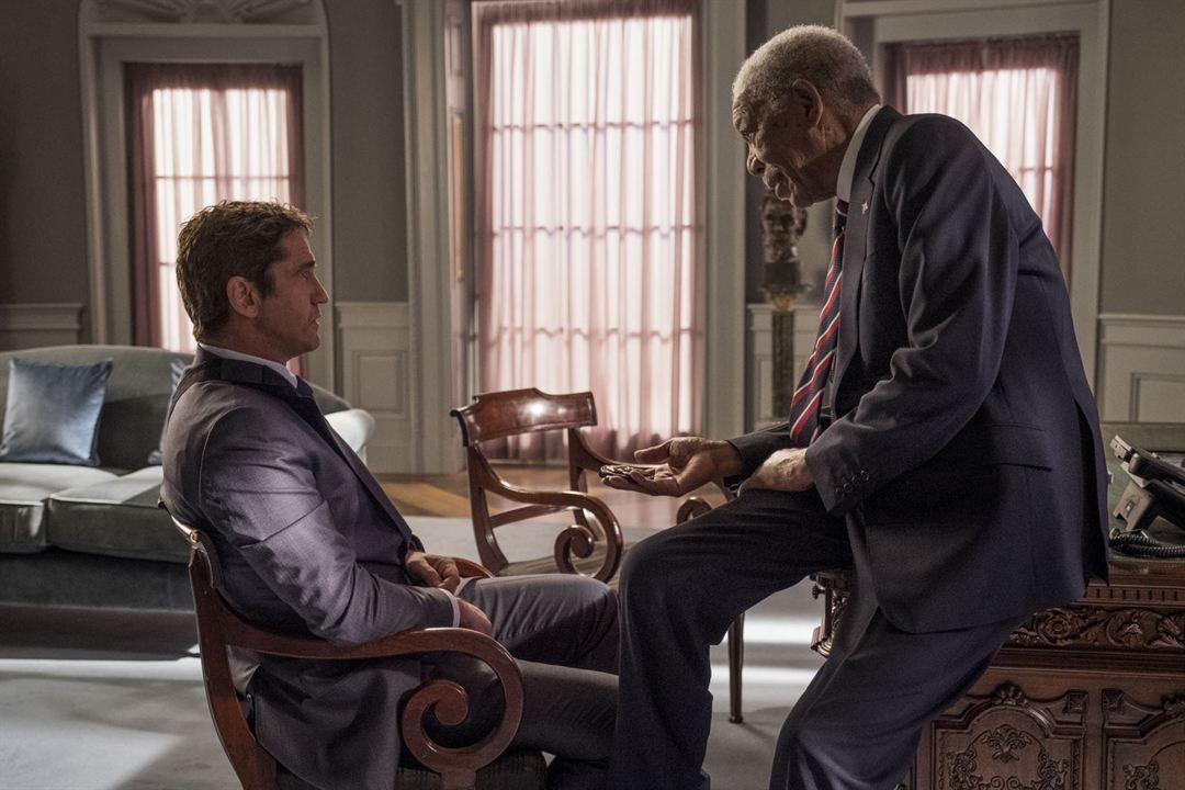 Invasão ao Serviço Secreto : Foto Gerard Butler, Morgan Freeman