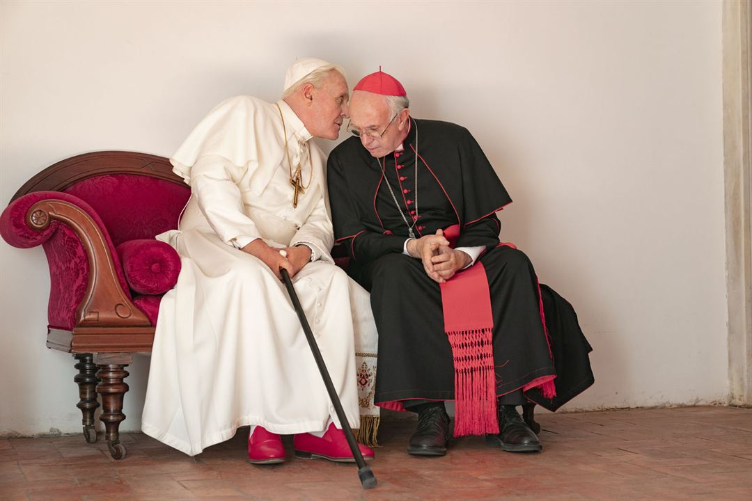 Dois Papas : Foto Anthony Hopkins, Jonathan Pryce