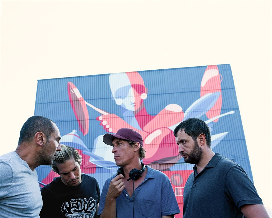 Foto Cédric Jimenez, François Civil, Gilles Lellouche, Karim Leklou