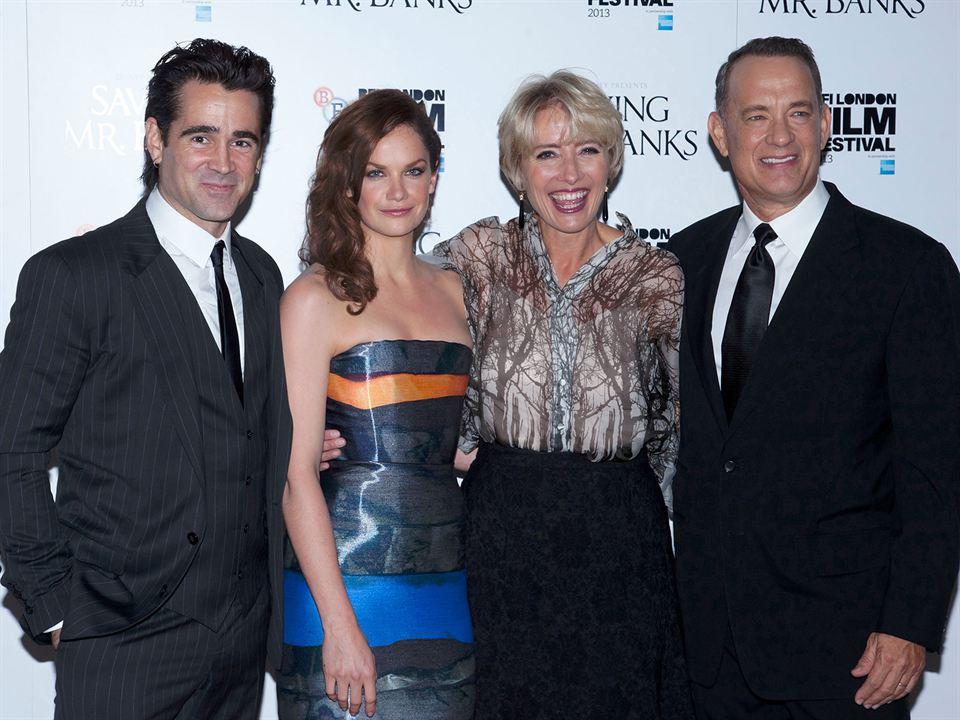 Walt nos Bastidores de Mary Poppins : Vignette (magazine) Colin Farrell, Emma Thompson, Ruth Wilson, Tom Hanks