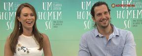 """Mariana Ximenes e Vladimir Brichta falam sobre o reencontro no cinema em Um Homem Só: """"A gente acaba sendo meio cúmplice"""" (exclusivo)"""