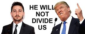 Shia LaBeouf cria plataforma de protesto contra Donald Trump em Nova York