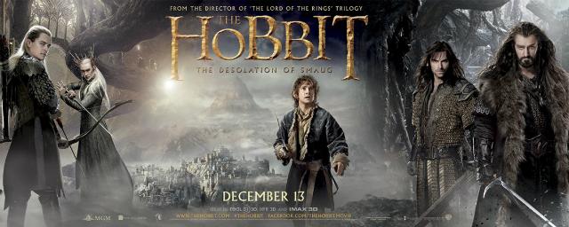 Bilbo, Gandalf, elfos e anões no novo banner de O Hobbit: A