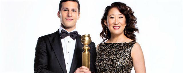 Globo De Ouro 2019 Sandra Oh E Andy Samberg Têm Muita