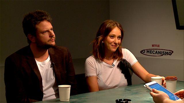 O Mecanismo 1ª Temporada Entrevista com Selton Mello e Caroline Abras