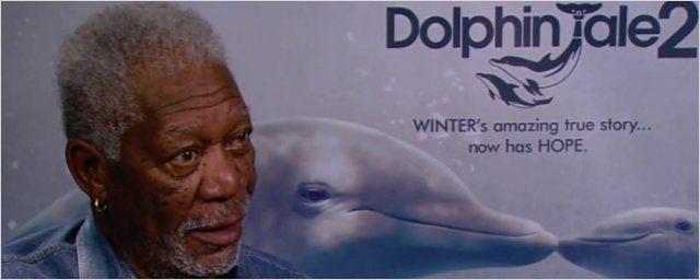 AdoroHollywood: Morgan Freeman fala sobre Winter, o Golfinho 2