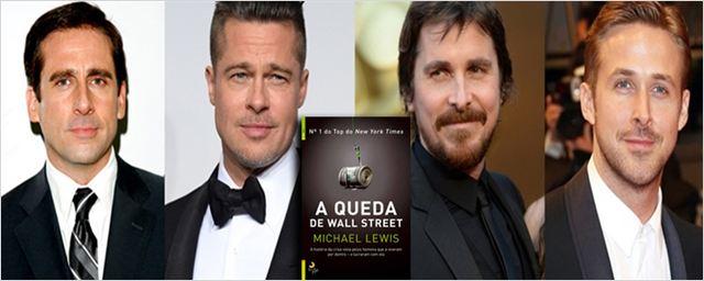 Drama sobre o mercado financeiro com Pitt, Bale e Gosling terá também Steve Carell, Melissa Leo e Marisa Tomei