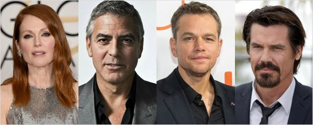 Matt Damon, Julianne Moore e Josh Brolin vão estrelar novo filme dirigido por George Clooney